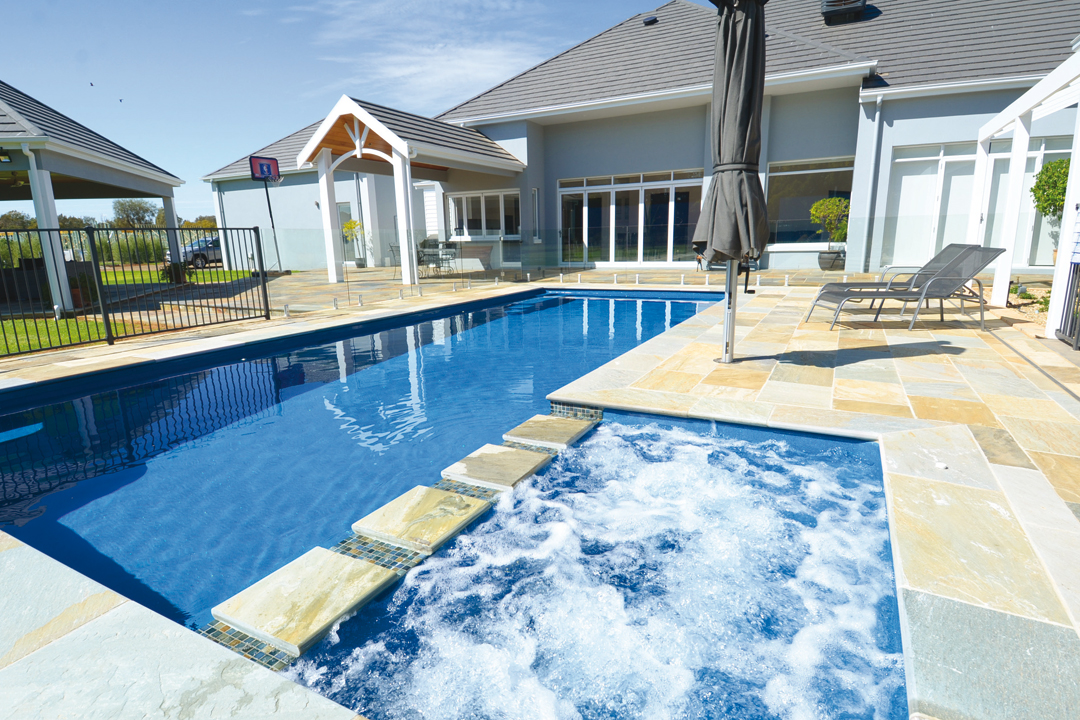 Compass pools western australia pool and outdoor spa - Swimming pool water features perth ...