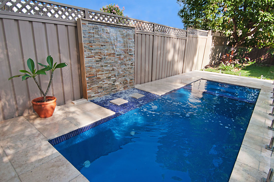 Hayward Pool Products stackstone feature wall