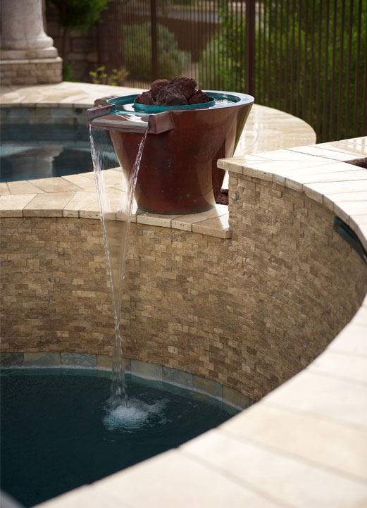 Hayward Pool Products water feature glazed pot
